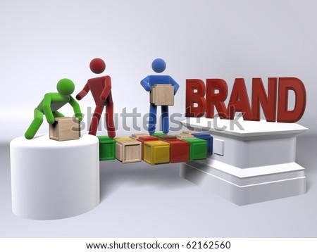 A team of diversity building a brand