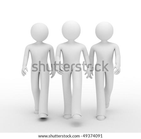 A team of three 3d guys.