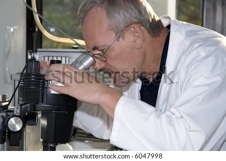A technician at work in the laboratory