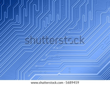A techy background of a circuit board - stock photo