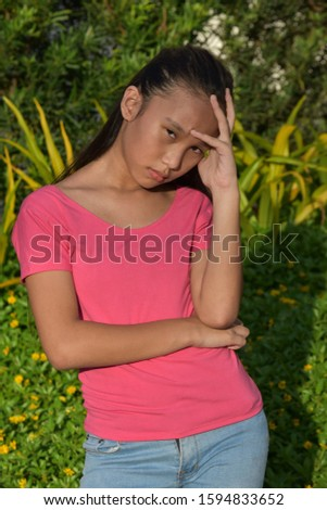A  Teen Youngster And Worry