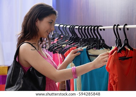 a teenage girl out shopping