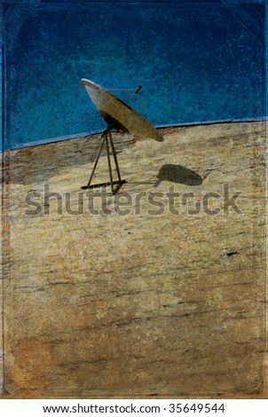 A television antenna on the wall