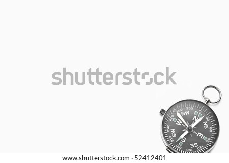 A template of a compass isolated in white.