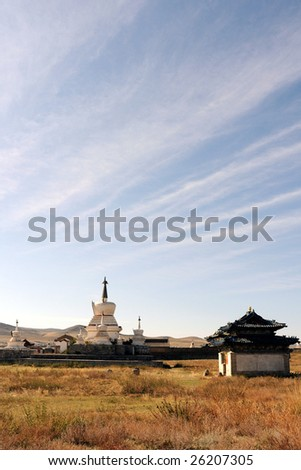 A Temple In The Gobi Dessert in Mongolia
