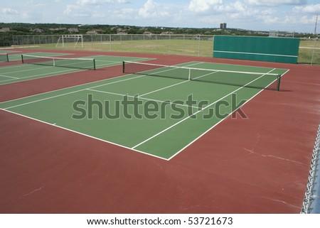 a tennis court - stock photo