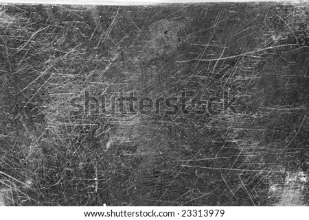 A Texture of a Scratched Metal Plate