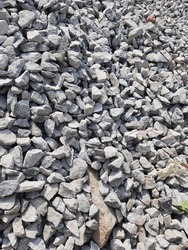 A texture of crushed graystones for construction