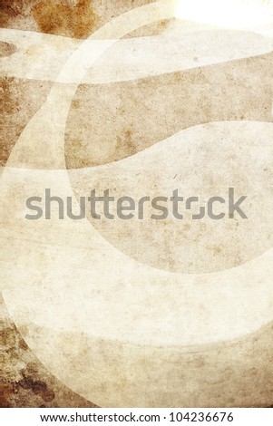 a texturized retro background of brown color