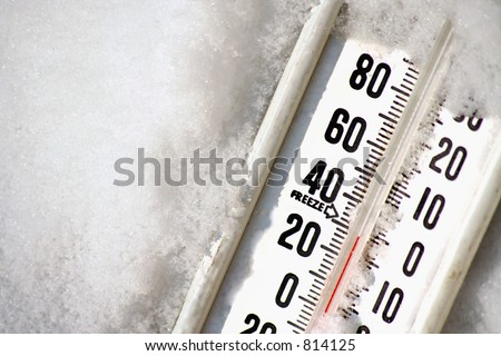 a thermometer in snow