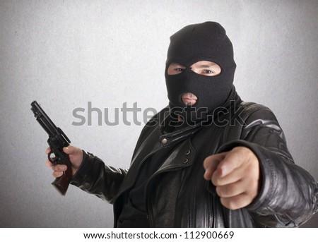 a thief, after docking at gunpoint