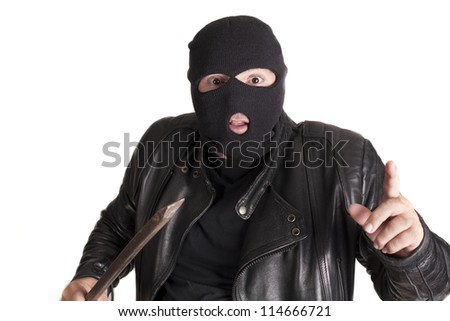 a thief committing a robbery