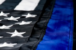A thin blue line American flag for police officers.