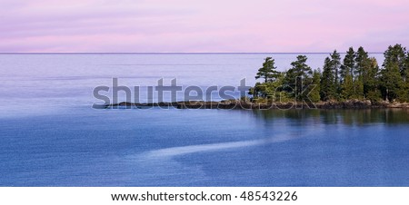 A Thin Spit Of Land Jutting Into Lake Superior, Near Eagle Harbor, Michigan's Upper Peninsula