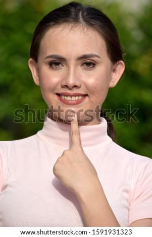 A Thinking Beautiful Filipina Female