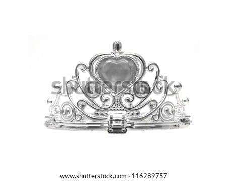 A tiara isolated against a white background