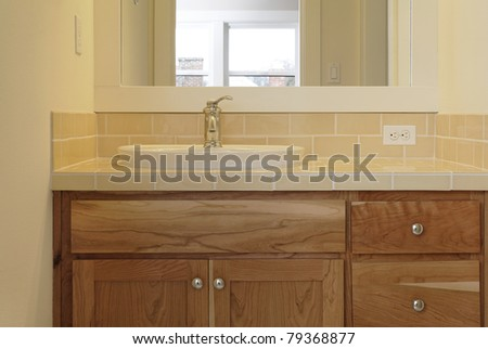 Sink Counter Sits on Top
