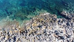 A tipical rocks beach in malta
