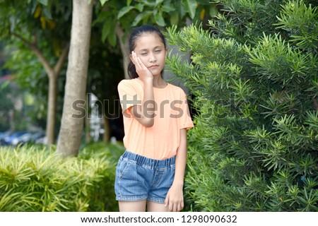 A Tired Teenage Female