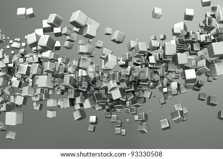 a titanium cubes abstract background