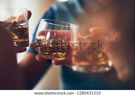 A toast with whiskey #1280431210
