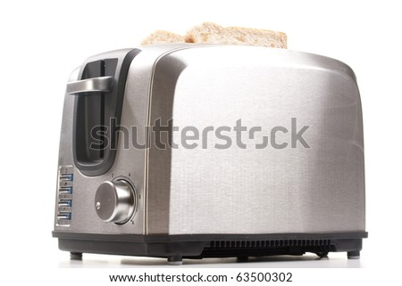 A toaster and a special bread for toast.