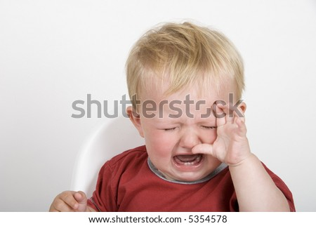 A toddler having a tantrum