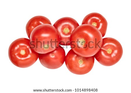 A tomato. Red. Useful vegetables. Bright. Diet. For your design.