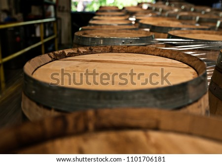 a top view of lined up whiskey...