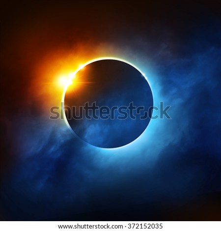 A Total Eclipse of the Sun. Illustration.