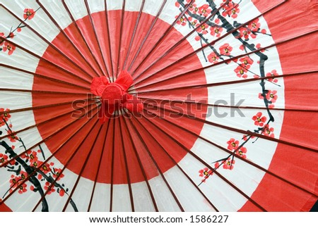 A traditional and decorative Japanese umbrella