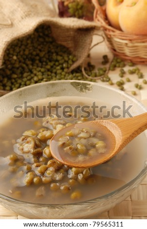 A traditional Chinese dessert -  Mung Bean Sweet Soup