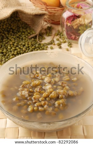 A traditional Chinese dessert Mung Bean Sweet Soup