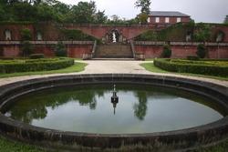 A traditional French-style garden at Ren Shan botanical garden at Dongshan Township, Yilan County, Taiwan.