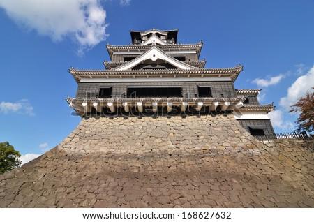 A traditional Japanese castle - Kumamoto castle.