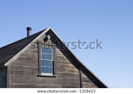 A traditional looking house roof.