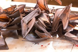 A traditional market in Asia where bats are sold as food among like other animals as dogs or snakes