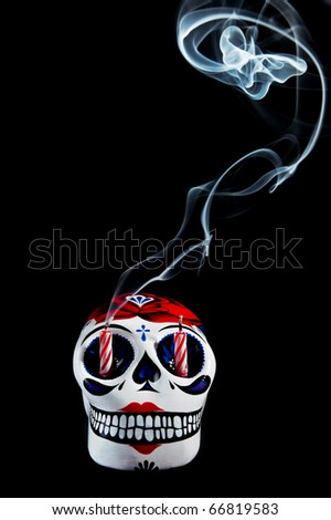 a traditional mexican symbol of the day of the dead