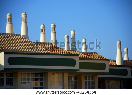 A traditional Portuguese chimney detail