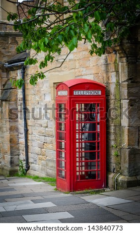 A traditional red Phone Box in England