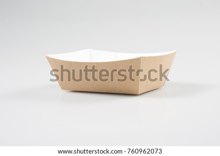 A traditional take out box from takeaway restaurant, on a white background #760962073