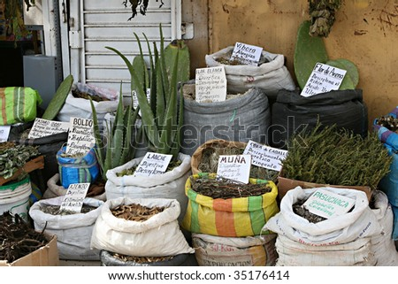 A Traditional Witches Market In Peru Sells Herbal Remedies For Any ...
