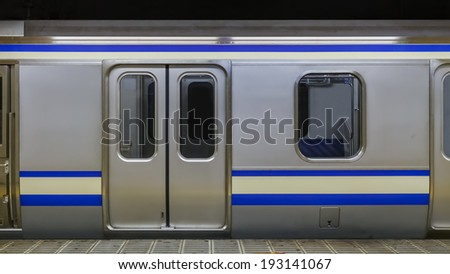 A train in a subway station