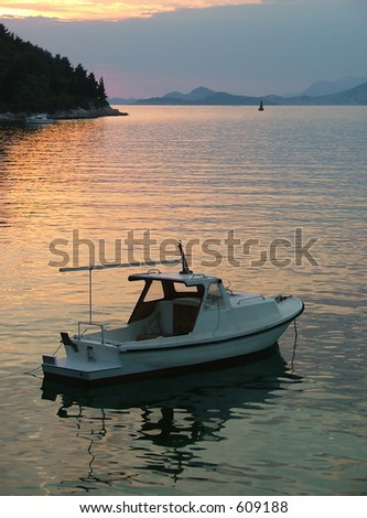 A tranquil evening on Cavtat Bay in Croatia