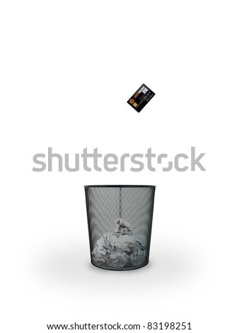 A trash bin isolated against a white background