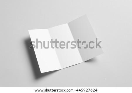 A4 Tri-Fold Brochure Mock-Up #445927624