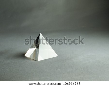 A triangular prism.