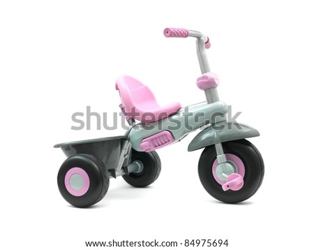 A trike isolated against a white background