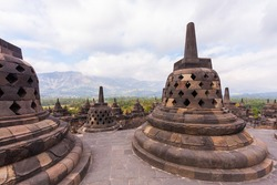 A trip to Borobudur Temple at Central Java Island