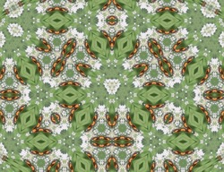 A trippy and creative illustration of colorful kaleidoscope patterns - perfect for wallpaper